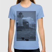 Ardrossan Lighthouse Ver… Womens Fitted Tee Athletic Blue SMALL