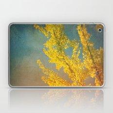 Yellow Ginkgo Tree in Autumn Laptop & iPad Skin