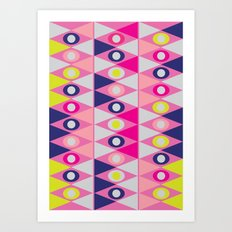 Triangles and Circles Art Print