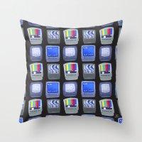 TV Pattern Throw Pillow