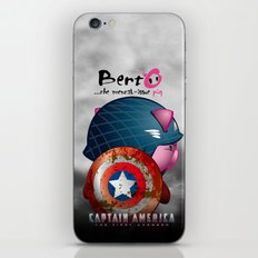 Berto: The Mental-issue pig as Captain America iPhone & iPod Skin
