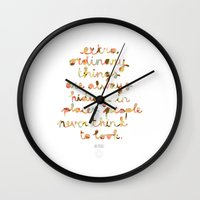 Extraordinary things Wall Clock