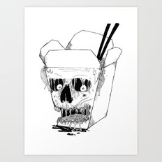 Monster Food: Takeout Art Print