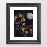 Dance Of The Fireflies Framed Art Print