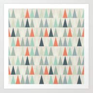 Art Print featuring Triangles by Dizzy Moments