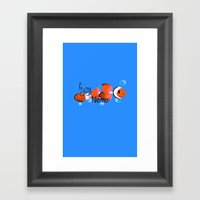 Frying Nemo Framed Art Print