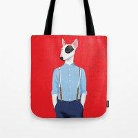 Skinhead Bull Terrier Tote Bag