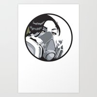 Graffiti mask Art Print