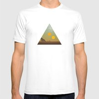 Binary Tragedy Mens Fitted Tee White SMALL