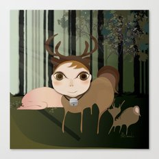 Deery Fairy in the Forest Canvas Print