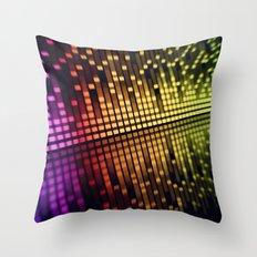 sound equalizer Throw Pillow
