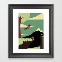 S Is For Squirrel Framed Art Print