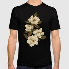 Magnolias Mens Fitted Tee Black SMALL