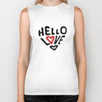 Hello Love Biker Tank