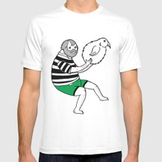 On the strange and controversial topic of bird bowling SMALL White Mens Fitted Tee