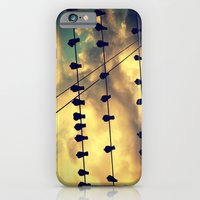 iPhone & iPod Case featuring Birds on a Wire by Allison Jarvis