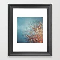 December Lights Framed Art Print