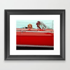 One cool dog Framed Art Print