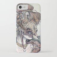 wolf iPhone & iPod Cases featuring Vulpes Masquerade, now as a print! by Caitlin Hackett