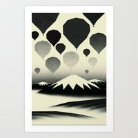 Morning wind balloons Art Print