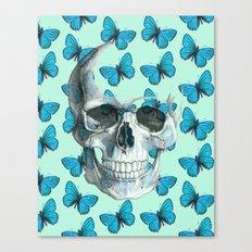 Butterfly Skull Canvas Print