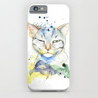 iPhone & iPod Case featuring Suspicious Cat by Annie illustrations