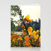 Rainy Day Flowers Stationery Cards