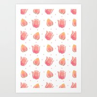 The Pink Tulip Pattern Art Print
