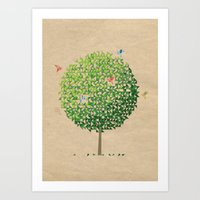 Where Origami Birds Go Art Print