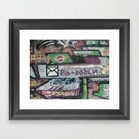 Rio Graffiti  Framed Art Print
