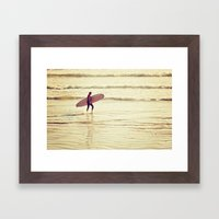 Golden Surf Framed Art Print