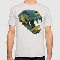 Three Little Birds Mens Fitted Tee Silver SMALL