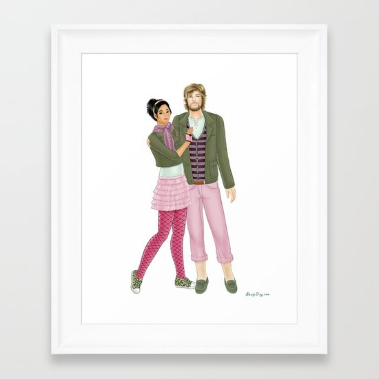 Fashion Journal: Day 30 Framed Art Print