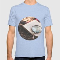 Learn + Explore. Mens Fitted Tee Tri-Blue SMALL