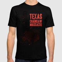 Texas Chainsaw Massacre Mens Fitted Tee Black SMALL