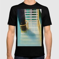 Submerged Metal Stairs Mens Fitted Tee Black SMALL