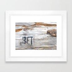 BET Framed Art Print