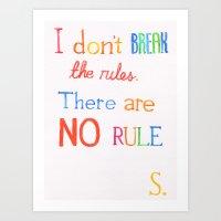JUDAS (The Rules) Art Print