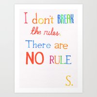 JUDAS (The Rules) Art Print