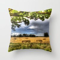 The Field Beyond The Tre… Throw Pillow