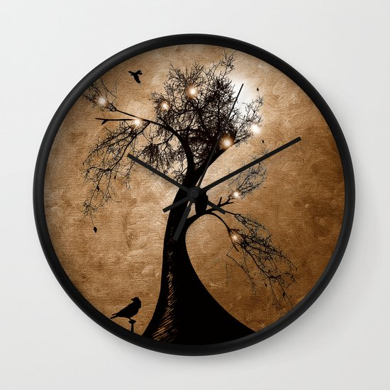 Raven christmas II - HOLIDAZE Wall Clock