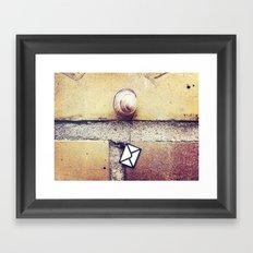 Snail Mail Framed Art Print