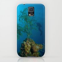 Galaxy S5 Cases featuring Soft Coral by Aqua Bear