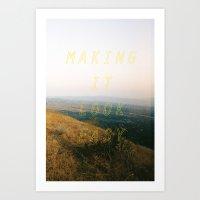 Making It Look Easy Art Print