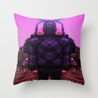 Little Bot Throw Pillow