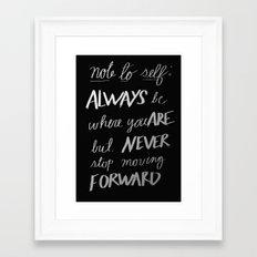 Note to Self: Framed Art Print