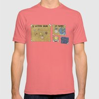 Sistema solar  school work Mens Fitted Tee Pomegranate SMALL