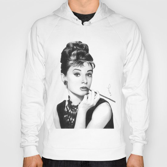 Audrey Hepburn Pencil drawing Hoody