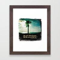 Secret of the sea Framed Art Print