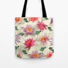 Lotus Flower Pattern Tote Bag